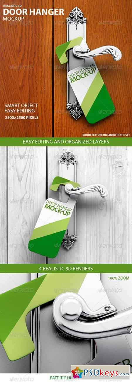 Door Hanger Mockup 7621097 » Free Download Photoshop Vector