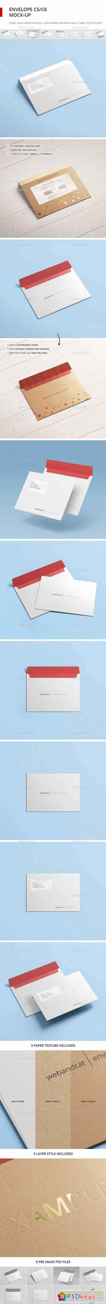 Envelope C5 C6 Mock-up 16559838 » Free Download Photoshop